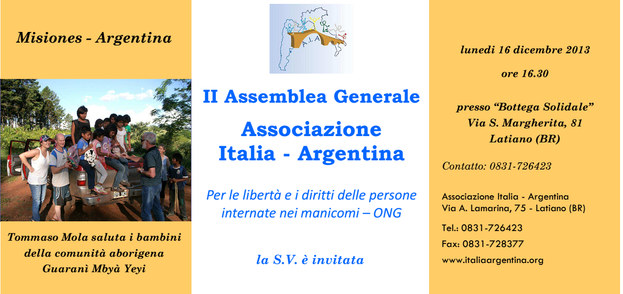 Assemblea Associazione Italia Argentina